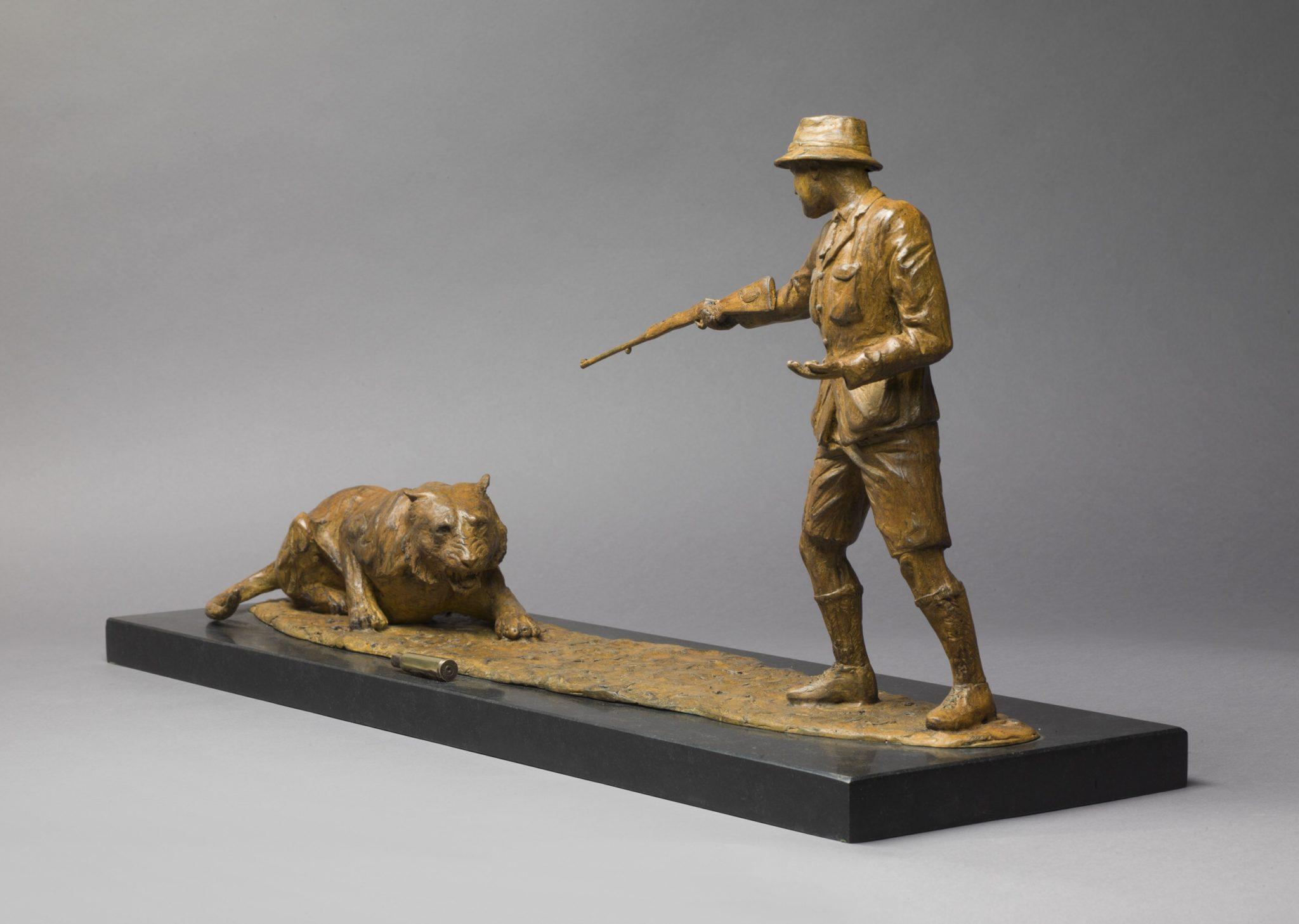 Jim Corbett limited edition bronze sculpture